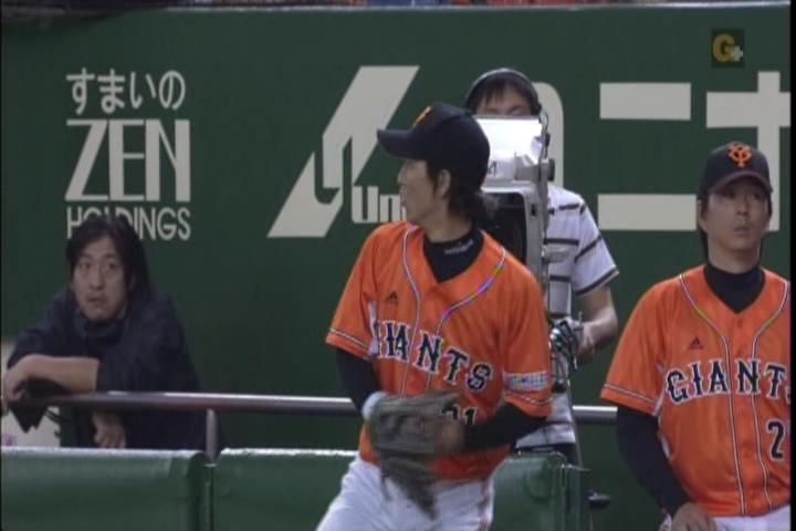 2試合目、松本守備前のキャッチボール1