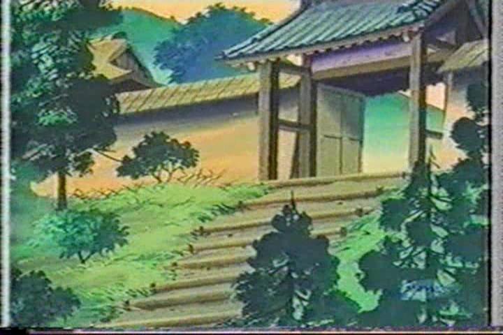 アニメ一休さん、安国寺、門