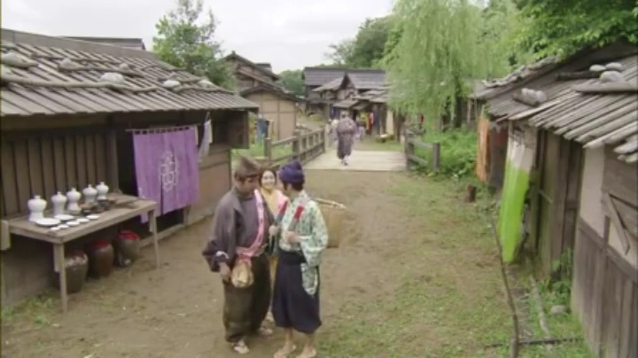 ドラマ一休さん、桔梗屋、川の側