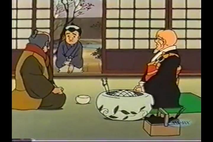 アニメ一休さん、桔梗屋、店内客室(?)