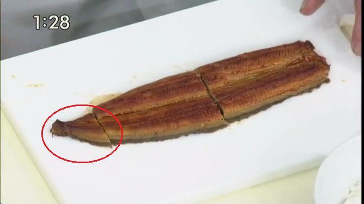 ウナギ、切る(尻尾の部分を見逃さない様に…)2