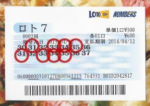 ロト7当選券002写真