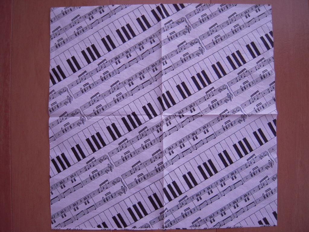 キャンドゥ☆ペーパーナプキン ピアノ☆2