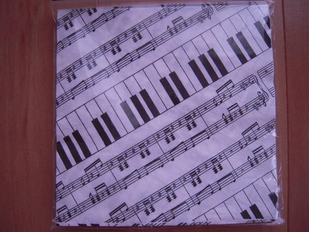 キャンドゥ☆ペーパーナプキン ピアノ☆1