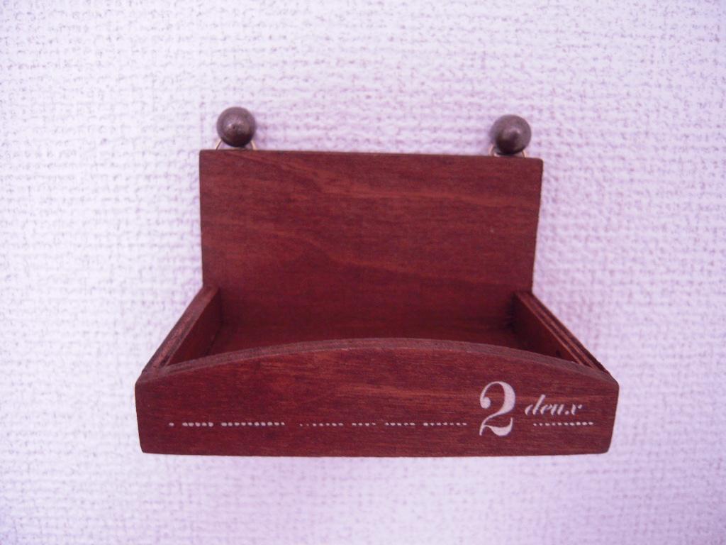セリア☆木製インテリア 壁掛けラック☆2