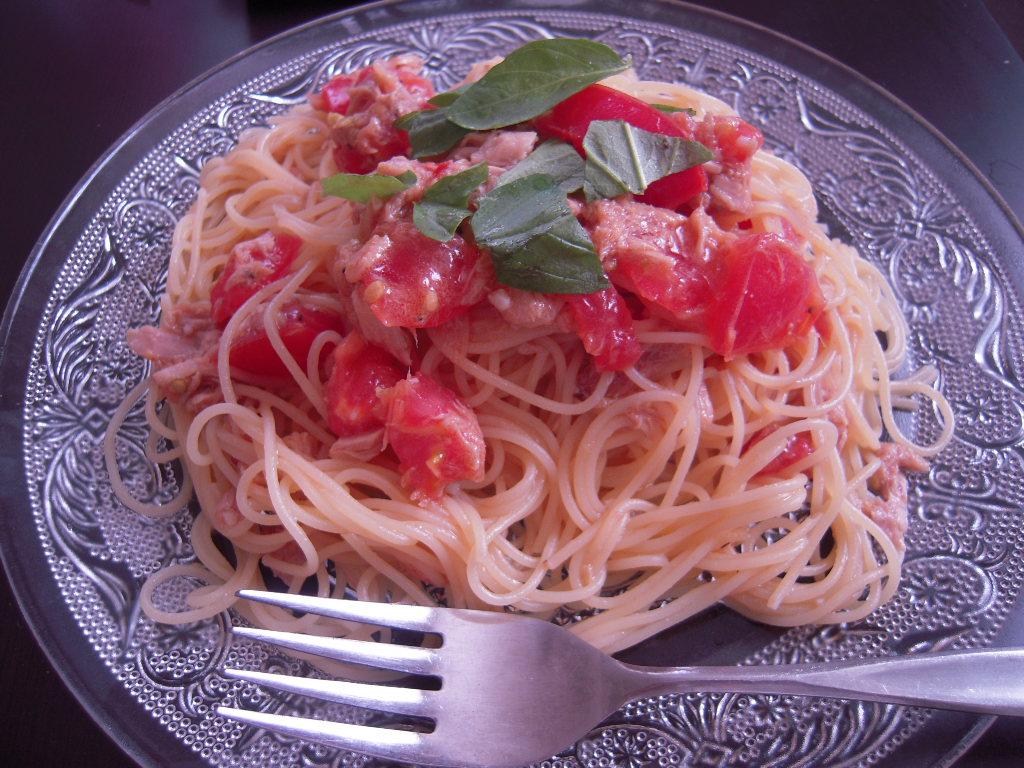 トマトとツナの冷製パスタ☆2