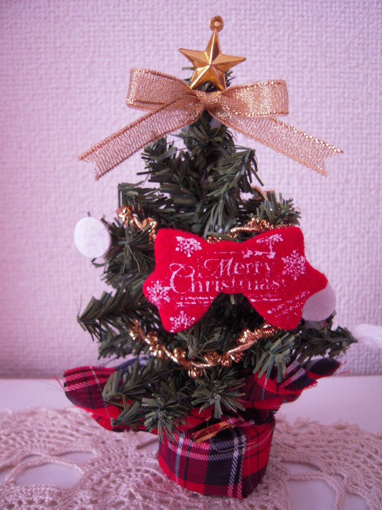 セリア☆ クリスマスツリー(リボンシルエット)☆