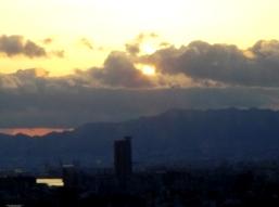 2013卯月の大阪の夕日