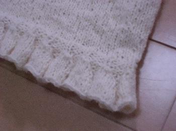 裾のフリフリ