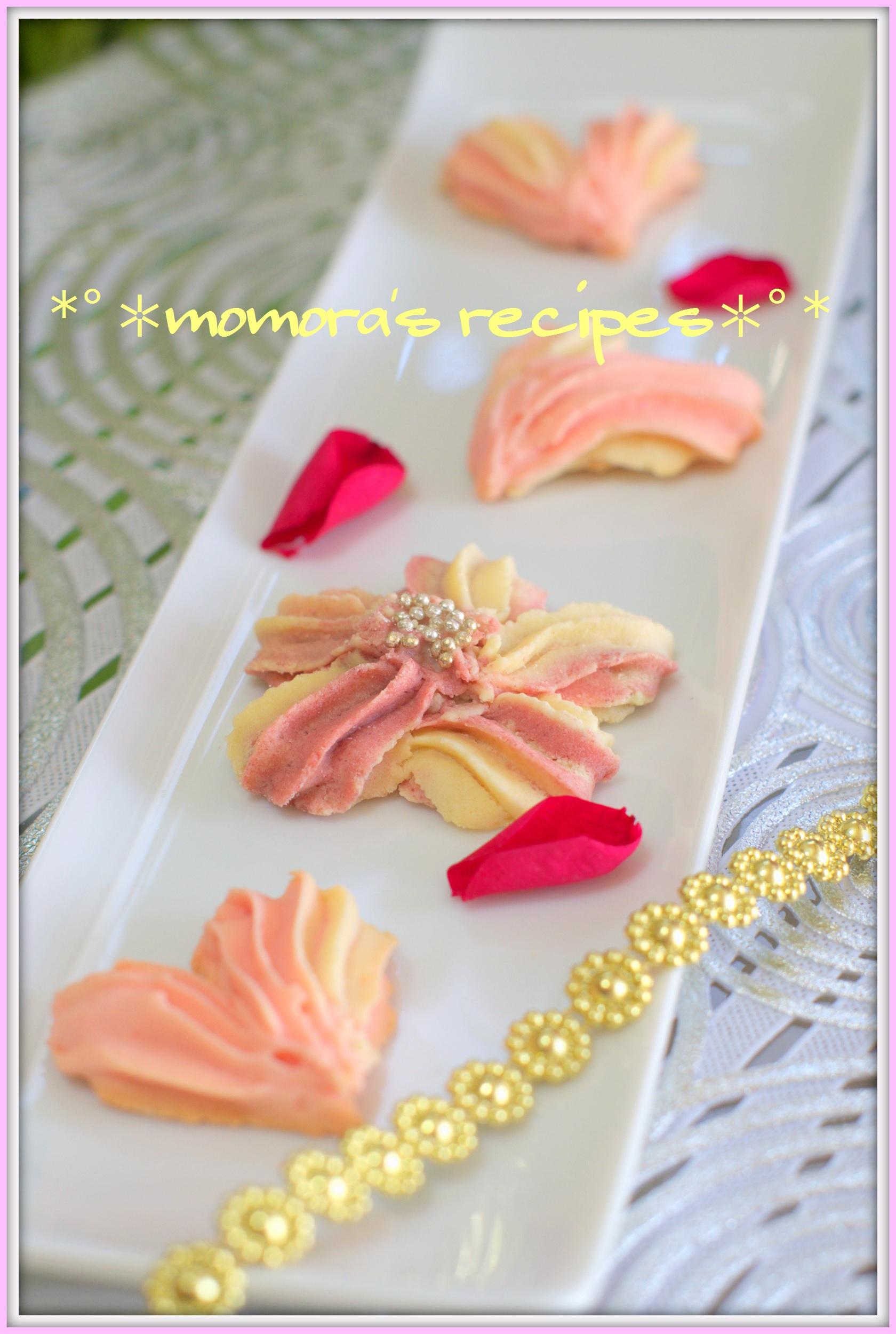 桜とハートクッキー