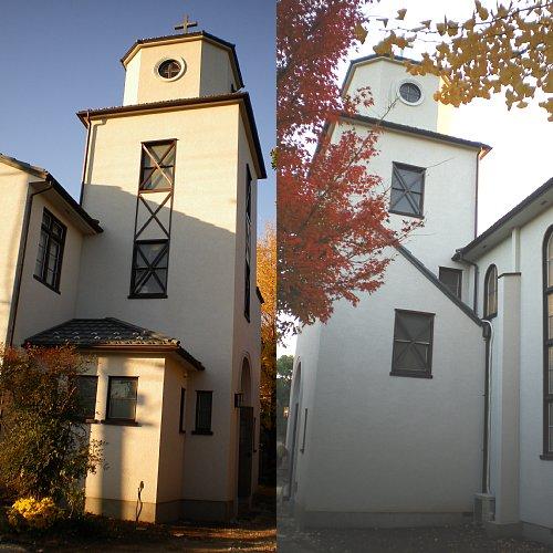 市川教会・塔屋外部