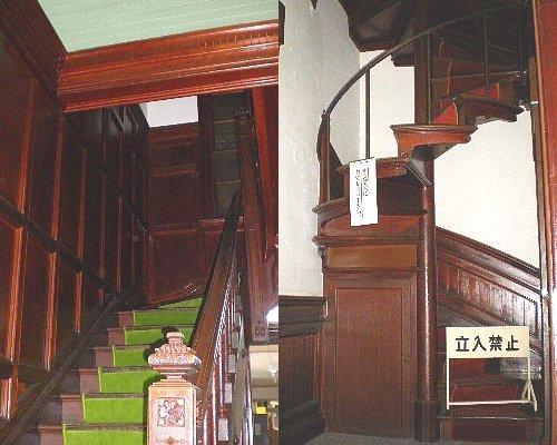 中越銀行・階段