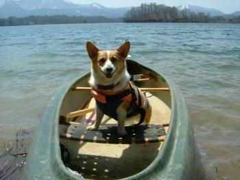小野川湖でどや顔