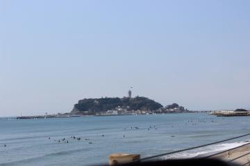 江ノ島が見えて来た~