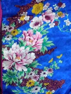 5,16青時に四季の花々の着物CAVXC5OQ