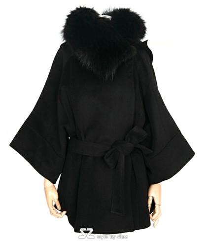 襟ファー付ファッションコート◆大4
