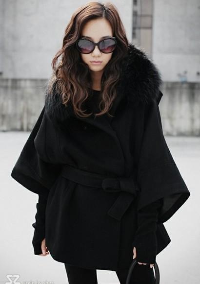 襟ファー付ファッションコート◆大1