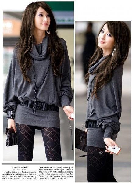 ファッション人気ワンピ◇カーキ  ブラック  グレー3色大5