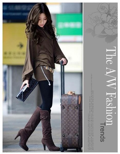 ファッション人気ワンピ◇カーキ  ブラック  グレー3色大4