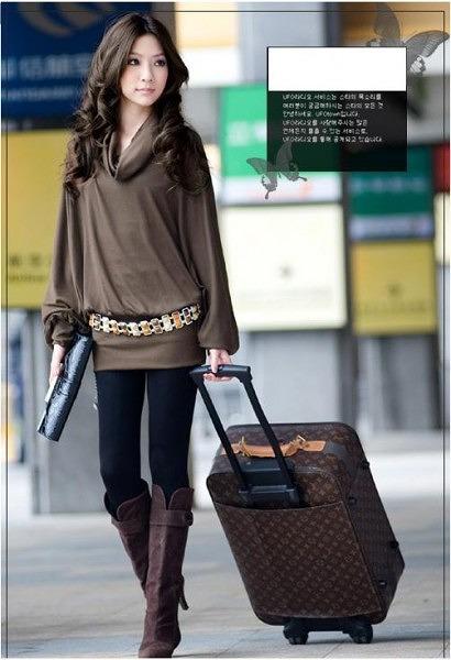 ファッション人気ワンピ◇カーキ  ブラック  グレー3色大2