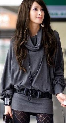 ファッション人気ワンピ◇カーキ  ブラック  グレー3色大1