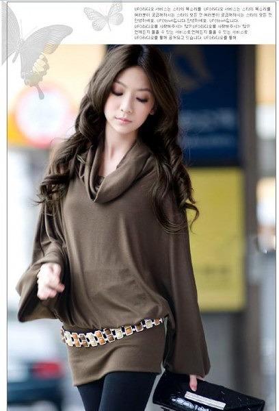 ファッション人気ワンピ◇カーキ  ブラック  グレー3色大6
