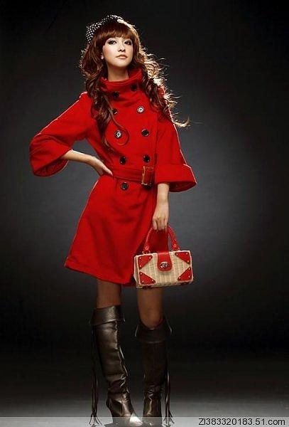 2Wayタイプの襟のロングコート全3色大4