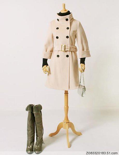 2Wayタイプの襟のロングコート全3色大9