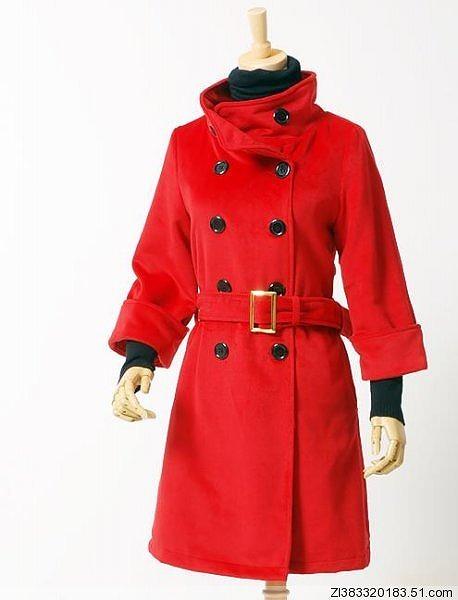 2Wayタイプの襟のロングコート全3色大10