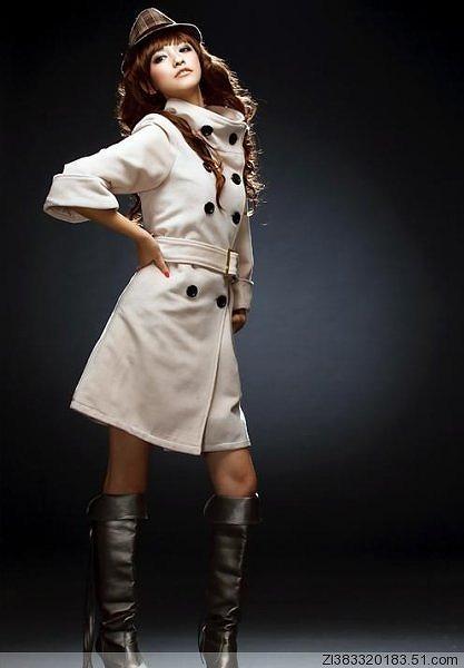2Wayタイプの襟のロングコート全3色大7