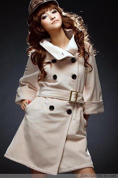 2Wayタイプの襟のロングコート全3色大6