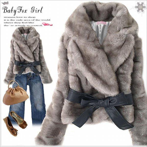 リボン付き♪ファージャケット全3色◆大3