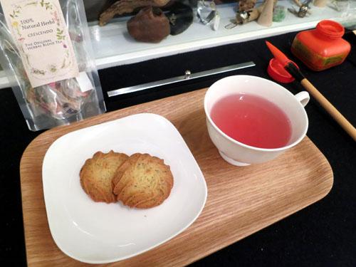 カフェ書道・お菓子1