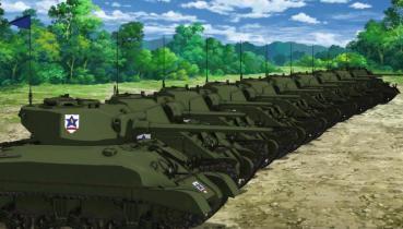 サンダース大学付属高校 M4A1シャーマン76mm75mmファイヤーフライ