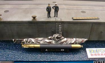 タミヤフェア 2012  1/35イタレリ岸壁(仮称)セット ドイツ海軍 特殊潜航艇 ビーバー
