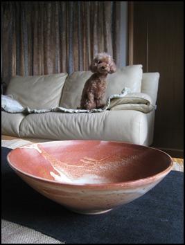 紅志野釉鉢