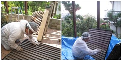 フェンス塗り替え