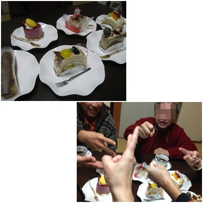 ケーキ争奪戦