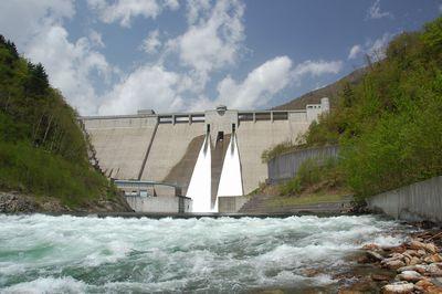ダム正面写真