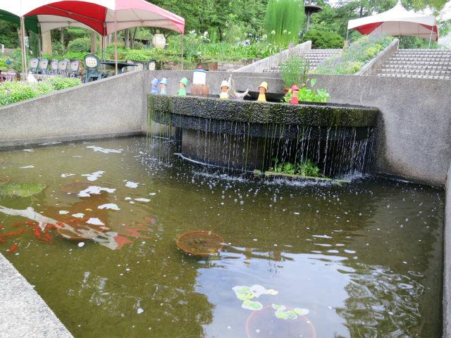 七色の虹の小人のいる池