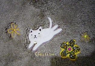 猫のトイレマット(猫アップ)