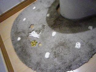 猫のトイレマット茶色