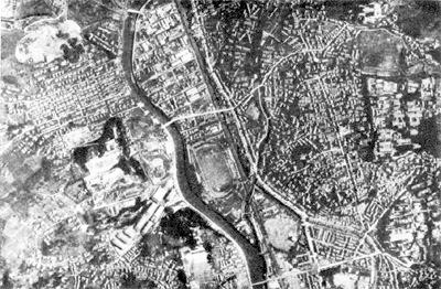 原爆投下前の長崎市浦上地区