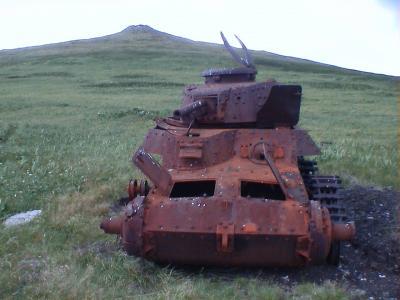 占守島の日本軍戦車