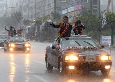 韓国五輪パレード