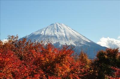 紅葉と富士山1016