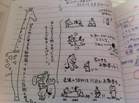 ノート落書き動物