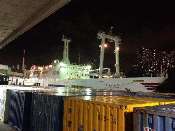 神津島行きの船