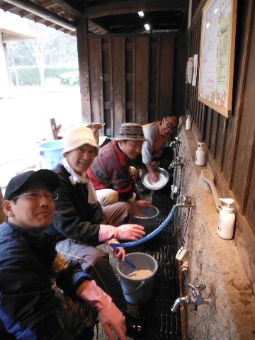 07準備米研ぎ