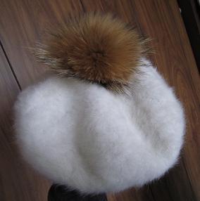 茶ふわ白帽子